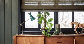 Megatapijt Nunspeet: Inspiratie Raamdecoratie Vouwgordijn In Semi Transparante Uitvoering B